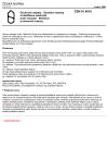 ČSN 91 6010 Úschovné objekty. Zkušební metody a klasifikace odolnosti proti vloupání. Skříňové a komorové trezory