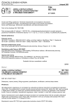 ČSN ISO 7363 Jeřáby a zdvihací zařízení. Technické charakteristiky a přejímací dokumenty
