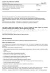 ČSN EN 1793-5 Zařízení pro snížení hluku silničního provozu - Zkušební metoda stanovení akustických vlastností - Část 5: Vnitřní charakteristiky - Hodnoty zvukové odrazivosti in situ v podmínkách přímého zvukového pole