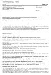ČSN ISO 10816-21 Vibrace - Hodnocení vibrací strojů na základě měření na nerotujících částech - Část 21: Větrné turbíny s vodorovnou osou rotoru s převodovkou