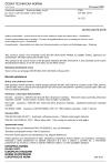 ČSN EN ISO 24373 Svařovací materiály - Svařovací dráty a tyče pro tavné svařování mědi a slitin mědi - Klasifikace