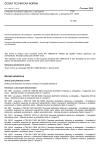 ČSN EN 14885 Chemické dezinfekční přípravky a antiseptika - Použití evropských norem pro chemické dezinfekční přípravky a antiseptika