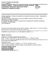 ČSN EN 249 Sanitární potřeby - Vany pro sprchové kouty vyrobené z odlévaných síťovaných akrylových desek - Požadavky a metody zkoušení